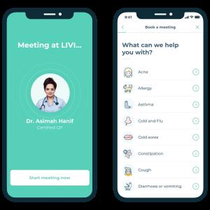 LIVI, KRY, digital health, online consultations, telemedicine, telehealth, health apps