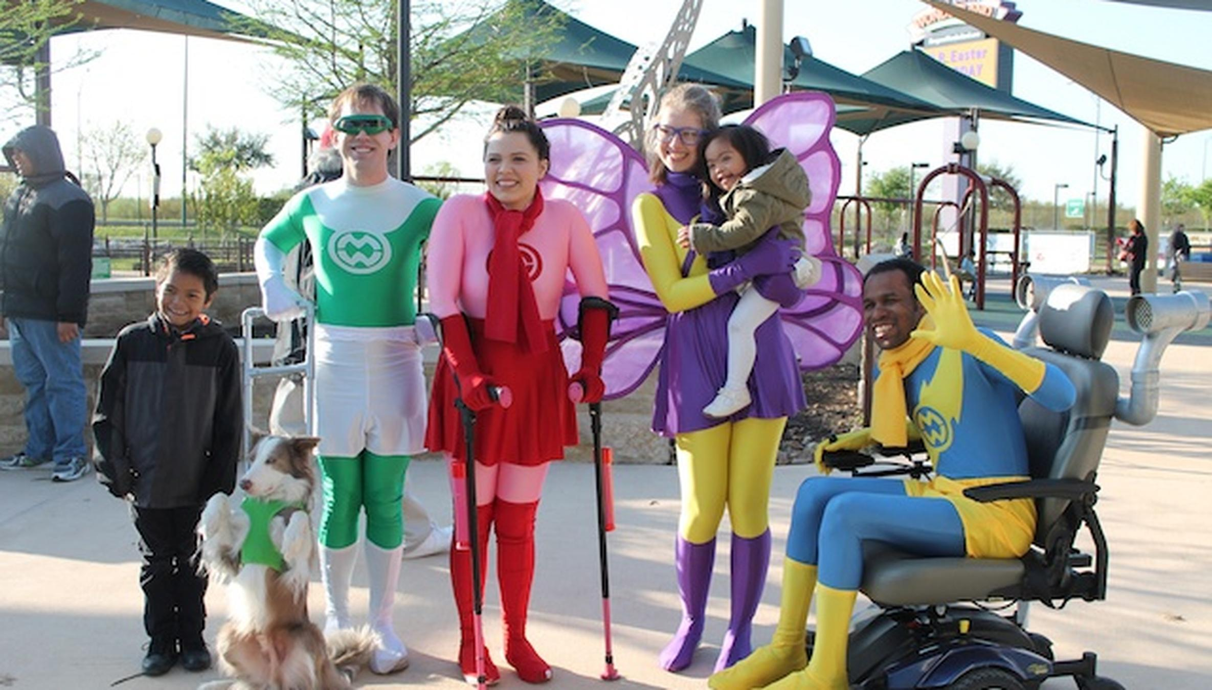 Photo of disabled superheroes